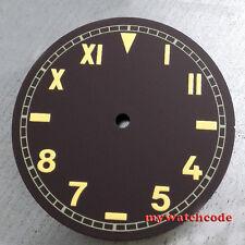 38.9mm coffee California dial orange pure sterile fit ETA 6497/98 mens watch D38
