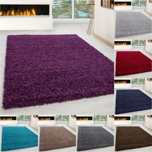 SMALL - EXTRA LARGE SIZE THICK 3cm PILE PLAIN MODERN NON-SHED SOFT SHAGGY RUG