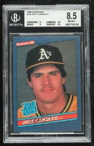 1986 Donruss Jose Canseco #39 BGS 8.5 Rookie