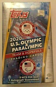 2020 21 Topps Olympic & Paralympic Team Hopefuls HOBBY BOX Factory Sealed 3 Hits