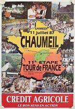 Affiche 11e ETAPE TOUR DE France 1987 CHAUMEIL Corrèze