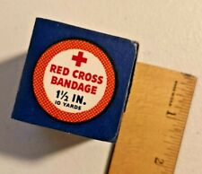 VINTAGE 1940s RED CROSS BANDAGE SEALED NOS 1.5 in x 10 Yds Rare -- 1716