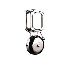 Campanello elettrico Gong In Metallo Muro Mountable CABLATA PORTA CAMPANA Tradizionale Cromato