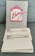 More details for barry manilow fan club 1981 package ,photo's badge , 1980 world tour poster.