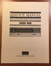 SANSUI 4000 STEREO TUNER AMPLIFIER ORIGINAL SERVICE MANUAL P077