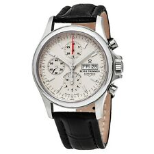 Revue Thommen Pilot Cream Dial Brown Leather Strap Automatic Watch 17081.6532