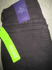 Not Your Daughter's Jeans NYDJ Skinny Stretch Dark Brown Denim Size 2 P x 29 New