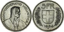 Switzerland: 5 Francs silver 1954 - XF