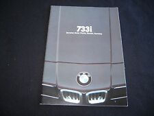 1979 BMW 7 Series Brochure E23 Deluxe 733i US Sales Catalog 733 i 7er Prospekt