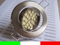 10x FARETTO LED INCASSO 120° GU10 BIANCO 3w 220v