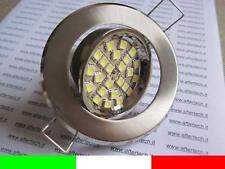 10x FARETTO LED INCASSO 120° GU10 BIANCO CALDO 3w 220v
