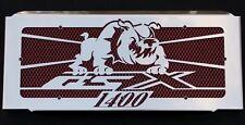"cache / Grille de radiateur inox poli Suzuki 1400 GSX ""Bulldog"" + grillage rouge"