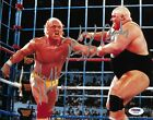 Hulk Hogan & King Kong Bundy Signed WWE 8x10 Photo PSA/DNA COA Wrestlemania II 2