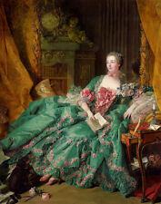 Boucher Francois Portrait Of Madame de Pompadour Print 11 x 14 #3552
