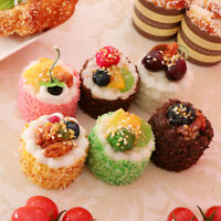 6Pieces Artificial Mixed Sprinkle Cake Realistic Fake Food Cupcake