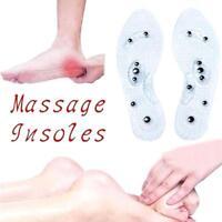 Therapie-Akupressur Magnetische Massage Schuh Einlegesohle Gel Pad Foot Relax