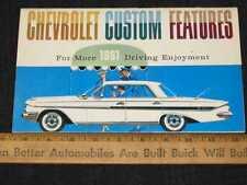 1961 Chevrolet Accessories Car Sales Brochure