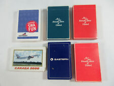 VINTAGE 6 AIRLINES DECK PLAYING CARDS RETRO AVIATION EASTERN UNITED SOUTHWEST