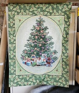 """LED Lighted Decorated Christmas Tree Hanging Home Wall Tapestry 26"""" x 36"""""""