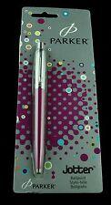 Parker, Jotter Ballpoint Pen, Magenta and Chrome