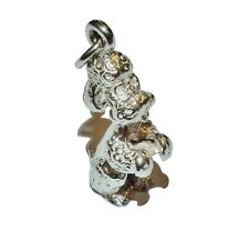Sterling Silver Traditional Solid 'POODLE' Charm/Pendant