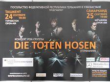 DIE TOTEN HOSEN  2010  TASHKENT  orig. CONCERT POSTER - TOUR POSTER