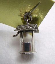 Vintage Sterling Silver 3D Wishing Well Bracelet Charm