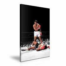 Muhammad Ali vs Sonny Liston Stretched Canvas ~ More Size