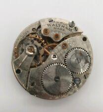 Waltham Grade 166 - 1918 15 Jewel Watch Movement - Model 1907 - Trench