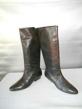 Women's Aldo Brown Leather Pull On Knee High Fashion Boots Size 7.5 B 38