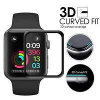 3D Curved Edge Tempered Glass Smart Watch Film Screen Protector for Apple Watch