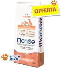 Monge All Breeds Puppy & Junior Salmone e Riso 12 kg - Crocchette cane cuccioli