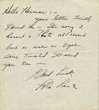 Vintage LOLA LANE Autograph Letter Signed