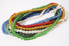 Lot 8 Stränge G Pulverglasperlen 8 - 9mm Krobo Ghana 8 x Recycling Beads Afrozip