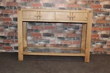 EX JOHN LEWIS MONTEREY OAK CONSOLE TABLE BRAND NEW IN BOX (1)