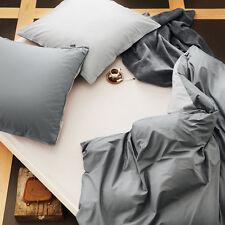 bugatti Bettwäsche 135x200 cm Perkal 100% Baumwolle grau Wendebettwäsche Set NEU