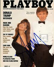 "Donald Trump signed  8""x 10""  Playboy magazine COVER 1990 Color PHOTO REPRINT"