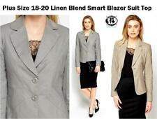 Cotton Hip Length Formal Plus Size Coats & Jackets for Women
