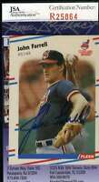 John Farrell 1988 Fleer Rookie Jsa Coa Hand Signed Authentic Autographed