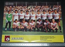 CLIPPING POSTER FOOTBALL 1985-1986 STADE RENNAIS RENNES ROAZHON