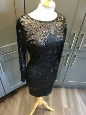 LIPSY SEQUIN BODYCON DRESS SIZE 10