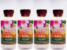 4 Bath & Body Works VINEYARD CHAMPAGNE KISS Body Lotion Cream Nourish Moisture