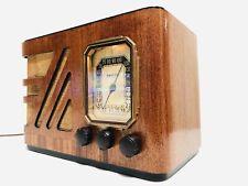 ANTIQUE OLD 1938 WOOD PHILCO 38-14 ART DECO WOOD W/ 5 TUBE AM/SW VINTAGE RADIO