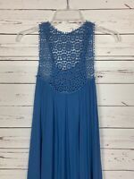 Ya Los Angeles Boutique Women's M Medium Blue Lace Spring Easter Dress NEW TAGS