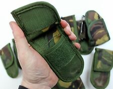 GENUINE DUTCH ARMY POCKET KNIFE BELT POUCH + ALICE CLIP in WOODLAND CAMO TYPE 1