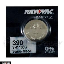 1 x Rayovac 390 battery Silver Oxide 1.55V 389 Sr1130S Sr54 V389 Watches Swiss