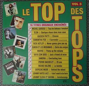 Le Top Des Tops 3 Compil 1988 LP 33T 33 Tours Guesh Patti Marrs Sandra Sardou DM