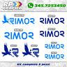 KIT 8 adesivi loghi RIMOR camper stickers caravan roulotte decal