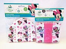 Minnie Mouse Infant Beanie Cap With Matching 3 Pack Washcloths Disney Baby Set