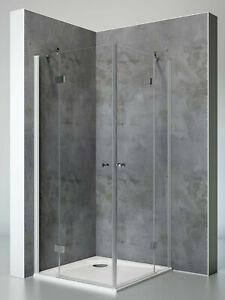 Duschkabine Duschabtrennung Dusche Eckeinstieg Nano Glas 90x90 80x80 Schulte Esg